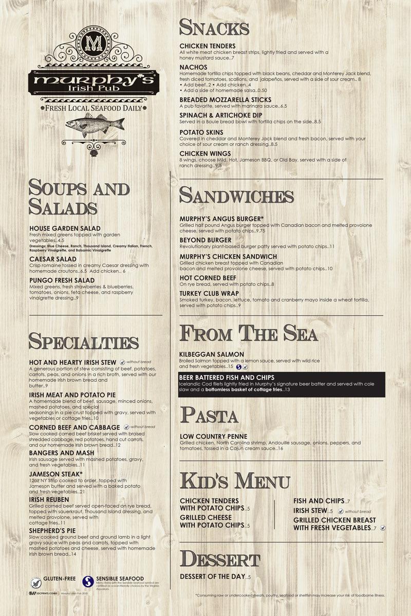 limited menu murphy